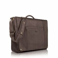 "Solo VTA502-3 Executive 16"" Laptop / MacBook Pro Leather Messenger Bag - New"