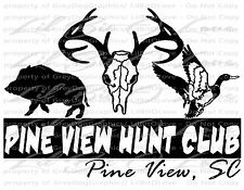Custom Hunt Club Decals Stickers Customize to YOUR Hunt Club Free Proofs