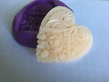Heart Silicone Mould. Wedding.christenIng.Topper. Fimo. Crafts.decorating.cake