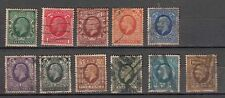 Great Britain King George V 1934 Used Set complete to One Shilling 11 Stamps