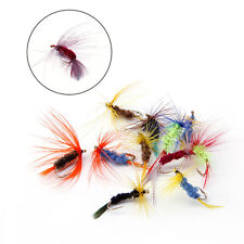 12Pcs Fishing Tackle Accessories Lures Artificial Flies Hooks Stainless Steel