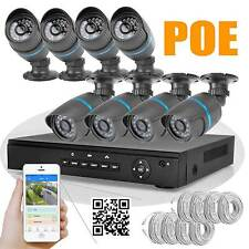 8CH H.264 Net POE NVR 8pcs 2MP1920*1080P HD 24LEDs IR CCTV IP Camera SYSTEM KIT