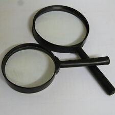 80mm + 60mm Magnifying Glass Distortion Magnifier Optical Eye Reading Hobby x3