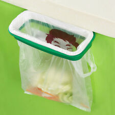 Hot Green Portable Kitchen Garbage Bag Plastic Bracket Trash Cans Wastebaskets