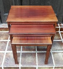 MID CENTURY DESIGN-Denmark vintage 60s Nesting table 3er set tables ~ 60er