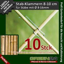 10 Stab Klammern für Rankgitter Rankgerüst Rankhilfe Spaliere Kletterhilfe Stäbe