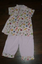 sz 4 Custom made outfit Top pants tunic pink corduroy paper dolls EUC