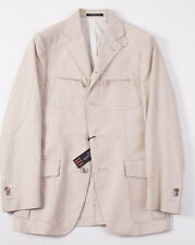 NWT $1375 CORNELIANI ID Beige Cotton-Linen Blazer 36 R Removable Vest Sport Coat