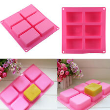 Square Shape Soap Mold Silicone Craft DIY Making Homemade Cake Mould Hot HG