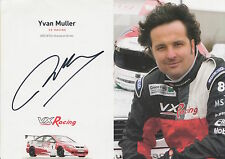 Yvan Muller Hand Signed VX Racing Promo Card Touring Cars 2.