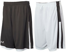 Under Armour Men's Undeniable REVERSABLE Basketball Shorts BLACK - White 2XL NEW
