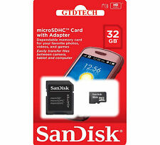SanDisk 32GB MICROSD SDHC MICROSDHC Class 4 TF Flash MEMORY CARD SD ADAPTER