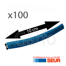 100X Tubo 10 cm Retractil Azul Cable 5 mm diametro aislador termoretractil