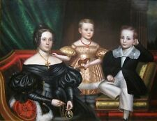 "perfect  oil painting handpainted on canvas ""a lady and her two children""836"