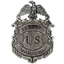 NEW NICKEL COLOURED EAGLE US DEPUTY MARSHALL LAW ENFORCEMENT BADGE SOLID METAL