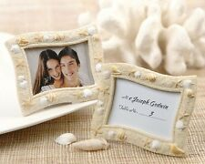 Seaside Sand And Shell Place Card Holder Photo Frame Wedding Favor