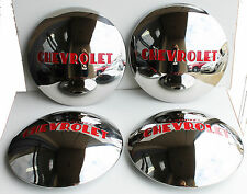 1947 48 49 50 51 52 53 Chevy TRUCK Stainless Hub Caps 4 for 1/2 ton wstock wheel