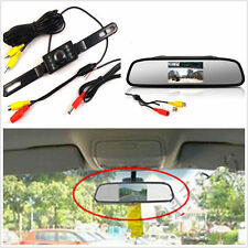 IR Night Vision License Plate LCD Reversing HD Camera Mirror Display Monitor Kit