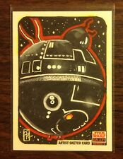 Death Star Topps Star Wars Galaxy 5 sketch card 1/1 Tim Proctor