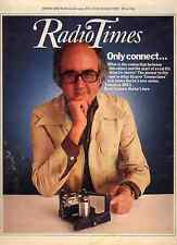RADIO TIMES 14 OCT 1978 . JAMES BURKE COVER . DOCTOR WHO