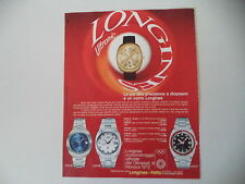 advertising Pubblicità 1971 LONGINES ULTRONIC