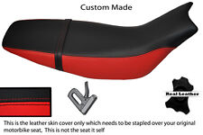 RED & BLACK CUSTOM FITS HONDA FMX 650 05+ REAL LEATHER SEAT COVER