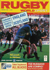 RUGBY WORLD MAGAZINE JANUARY 1987 - PERFECT GIFT FOR A FAN BORN IN THIS MONTH