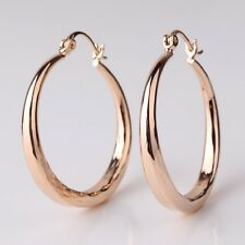 18k  gold filled Snap Closure Unique Eternity wedding promise hoop earring