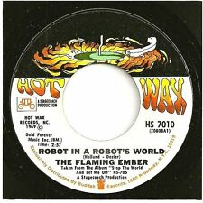 FLAMING EMBER 45  Robot In A Robot's World / Stop The World And Let Me Off - NM