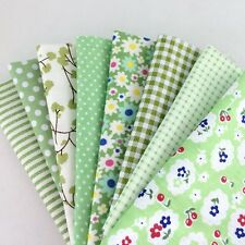 "New Sewing 8 Assorted Green Pre Cut Charm 10"" Squares Quilt Cotton Fabric"