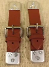 CLASSIC MINI LEATHER BONNET STRAPS - (SOLD IN PAIRS) - BROWN