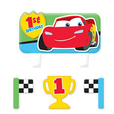 Disney Cars 1st Birthday Candle Set 4 pcs Cake Toppers Decorations Party Supply