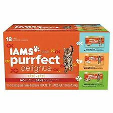 IAMS PURRFECT DELIGHTS Wet Canned Cat Food Pate - Variety Pack