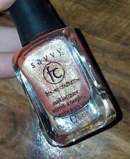 NEW! SAVVY nail polish lacquer in MAGIC PUMPKIN ~ Lovely Sheer Peach Shimmer