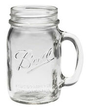 Genuine Classic USA made BALL MASON 16oz Drinking Mug Glass Jar with Handle