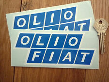 OLIO FIAT BLUE STYLE Rally & Race Car STICKERS 150mm Pair Lancia Delta Racing