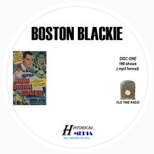 BOSTON BLACKIE - 196 Shows Old Time Radio In MP3 Format OTR On 2 CDs