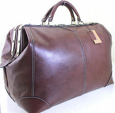 L Italian Leather Holdall Weekend Duffle Sports Weekend Cabin Travel Bag Case Br