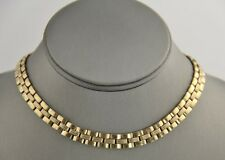 """VINTAGE Jewelry ART DECO ERA EARLY 1900's FLAT CHAIN LINK NECKLACE BOW CLASP 14"""""""