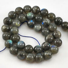 "NY6DESIGN 10x10mm AAA+ Natural Shiny Labradorite Round Beads 15""(LA53)c"