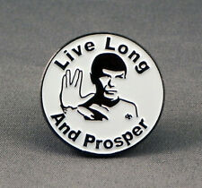 Metal Enamel Pin Badge Brooch Live Long and Prosper Treck Roundal