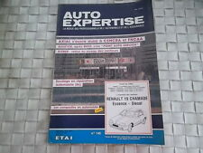 REVUE AUTO EXPERTISE CARROSSERIE RENAULT 19 CHAMADE ESSENCE ET DIESEL