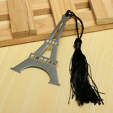 1PC New Eiffel Tower Alloy Bookmark Creative Exquisite Tassel Box Gifts Hot Sale