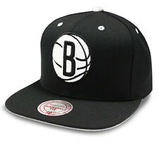 NBA Mitchell & Ness Brooklyn Nets Velour Black Snapback Cap - Brand New