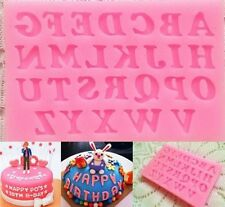 Silicone Fondant Cake Mold Alphabet Letter Number Chocolate Sugarcraft Clay Tool