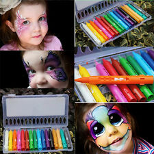 16 Funny Face Body Paint Crayons Pencils Kit Set Make Up Cosplay Halloween Xmas