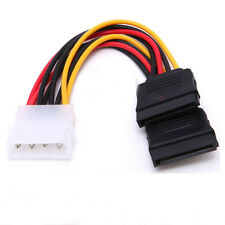 4 Pin IDE Male Molex to Dual SATA Y Splitter Female HDD Power Adapter Cable