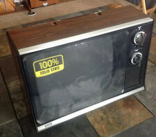 """VINTAGE SEARS 13"""" B&W TV PRACTICALLY NEW WITH PROTECTIVE FILM ON FACE 562-507120"""