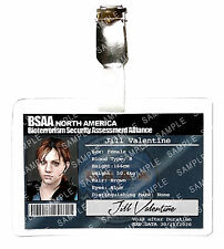 Resident Evil Jill Valentine ID Badge BSAA Zombie Cosplay Costume Prop Comic Con