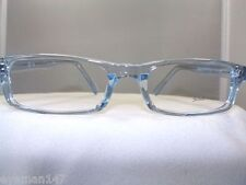 SOHO 56 BLUE CRYSTAL RECTANGULAR EYEGLASS FRAME -